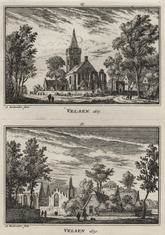 view Velsen 1617; Velsen 1630 by A. Rademaker