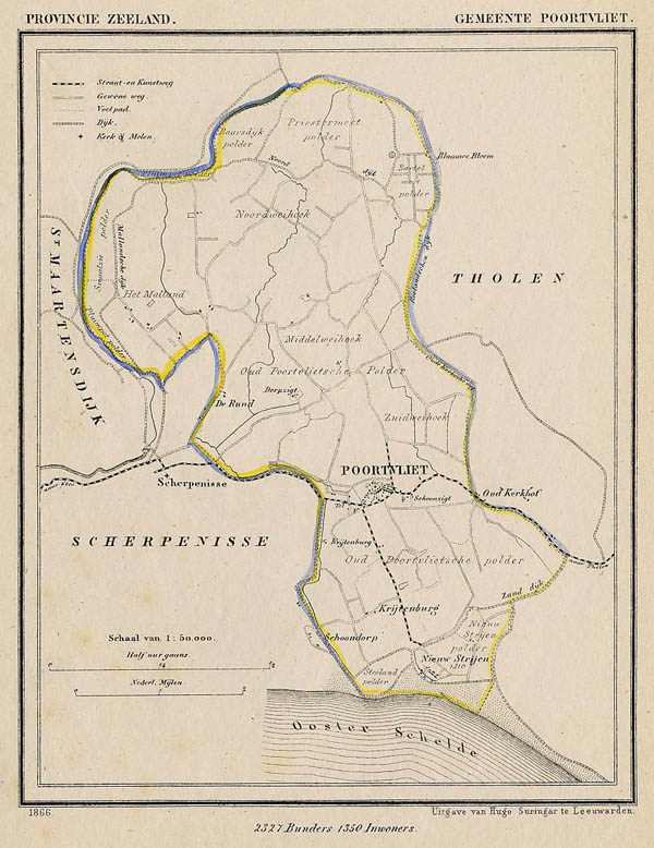 map communityplan Gemeente Poortvliet by J Kuyper