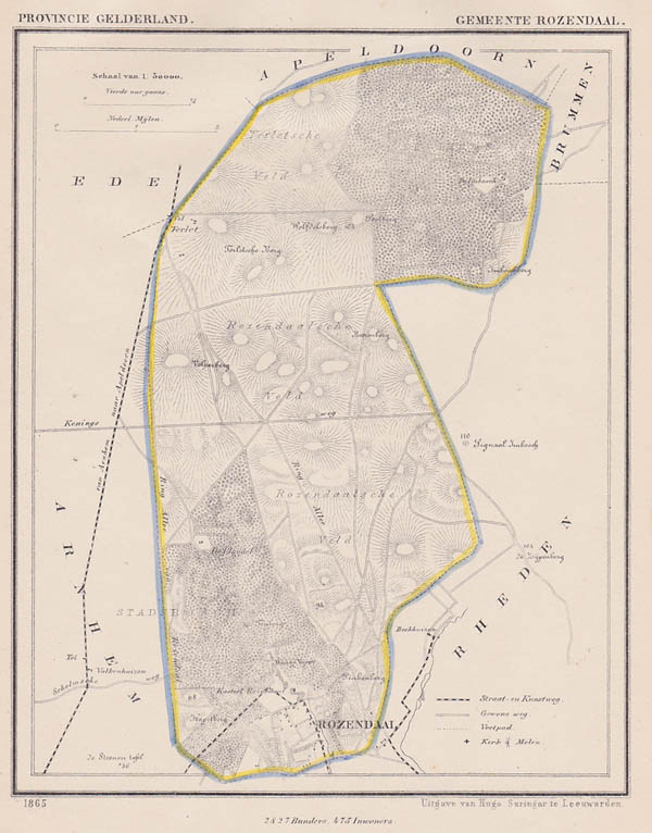 map communityplan Rozendaal by Kuyper (Kuijper)