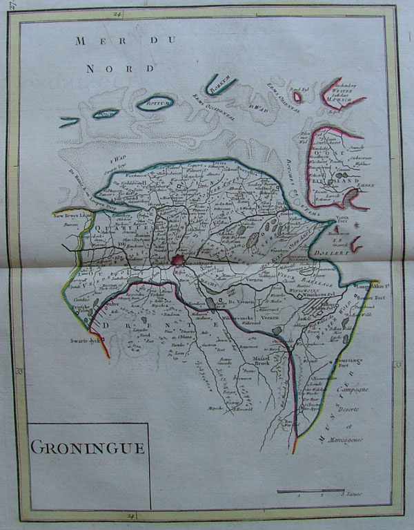 map Groningue by George Louis le Rouge