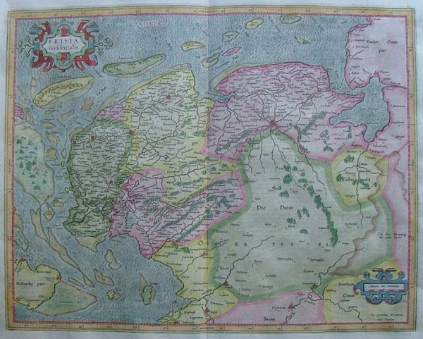 map Frisia occidentalis by Gerard Mercator