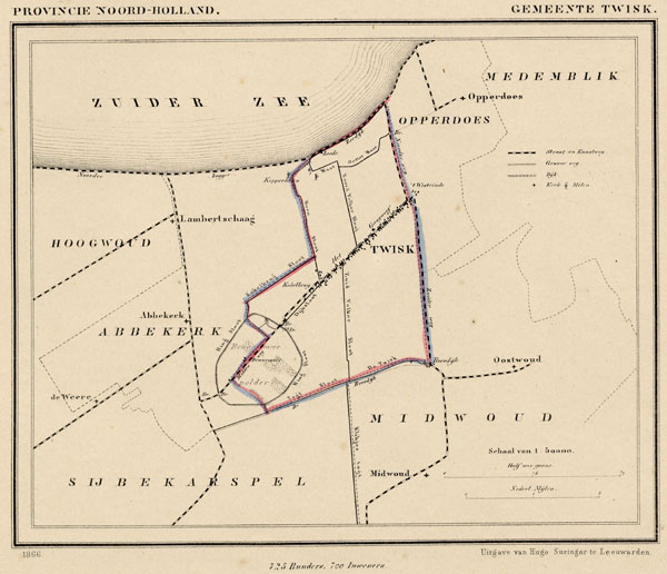map communityplan Gemeente Twisk by Kuyper (Kuijper)