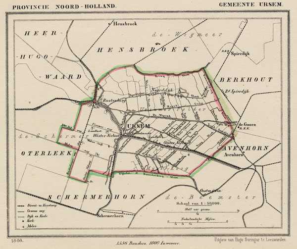 map communityplan Gemeente Ursem by Kuyper (Kuijper)
