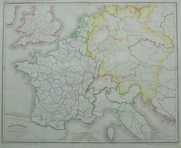 map Europe centrale by Achille Meissas, A. Michelot