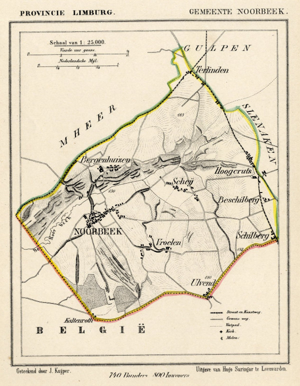 map communityplan Gemeente Noorbeek by Kuyper (Kuijper)