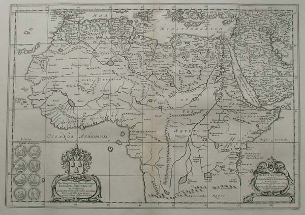 map Africa Antiqua by Papierformaat is 66 X 54 cm