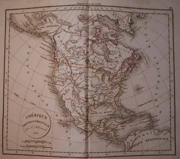 map Amérique Septentrionale by Félix Delamarche