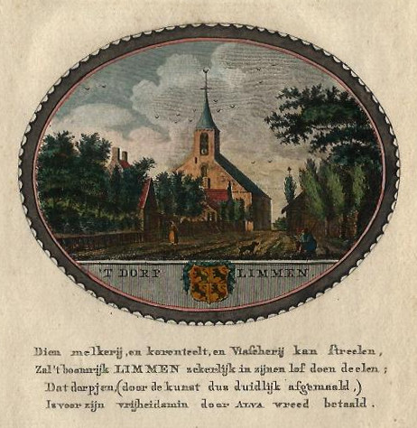 view ´t Dorp Limmen by A.C. Brouwer