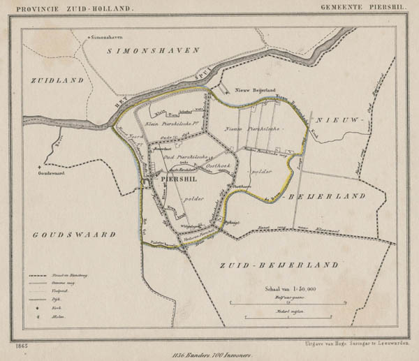 map communityplan Gemeente Piershil by Kuyper (Kuijper)