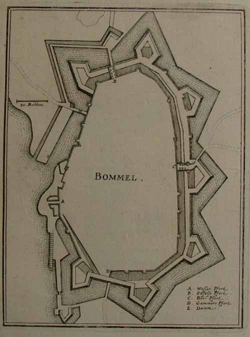 plan Bommel by Merian