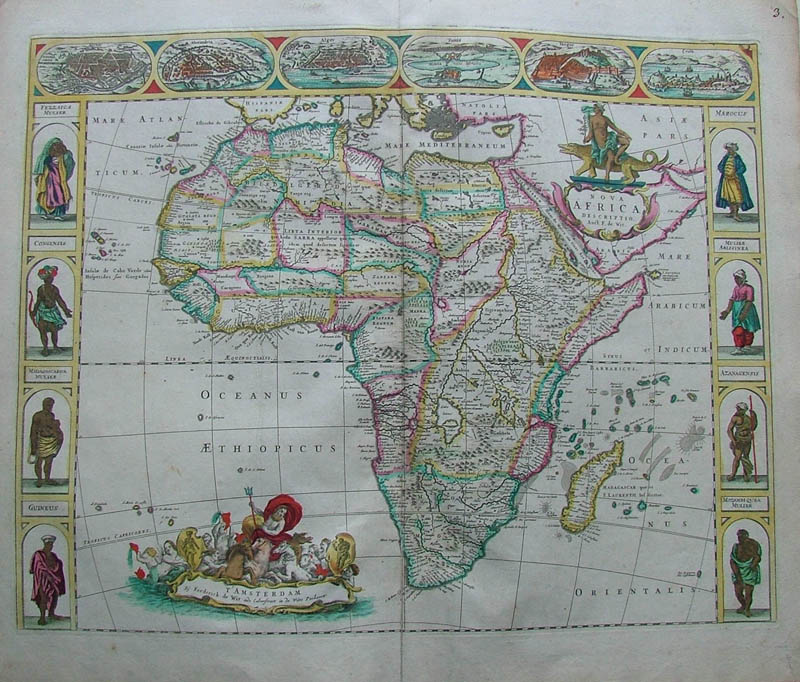 Nova Africa descriptio by Wit, Frederik de