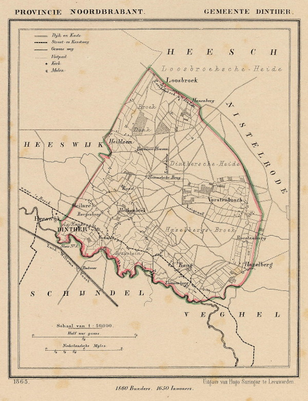map communityplan Gemeente Dinther by Kuyper (Kuijper)
