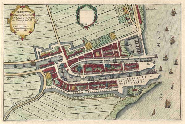 plan Delfshaven by Blaeu