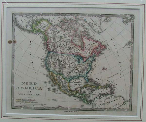 map Nord-America und West-Indien by Justus Perthes