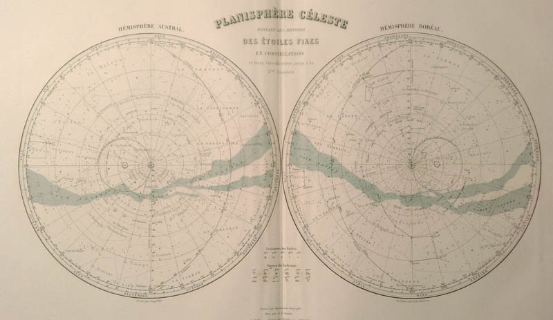 Planisphere Celeste by Debuissons, A.T. Chartier